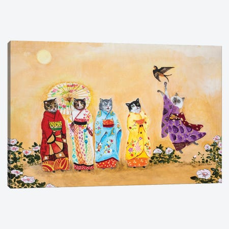 Warui Kiti Canvas Print #JVA37} by Jahna Vashti Canvas Artwork