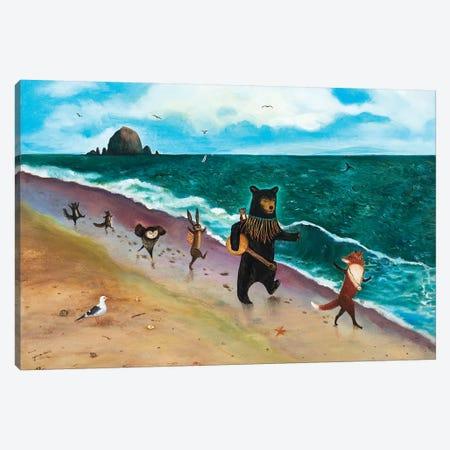 Beach Day! Canvas Print #JVA39} by Jahna Vashti Canvas Art Print