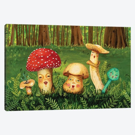Shroom Tunes Canvas Print #JVA41} by Jahna Vashti Canvas Art