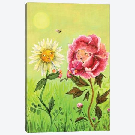Happy Hour Flowers Canvas Print #JVA43} by Jahna Vashti Canvas Artwork