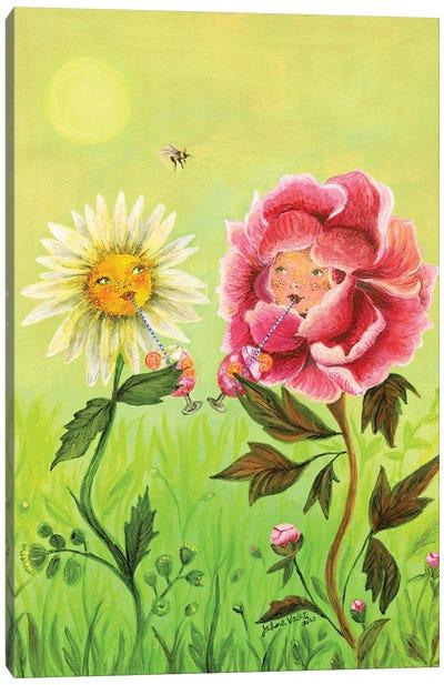 Happy Hour Flowers Canvas Art Print