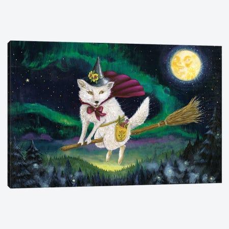 Moon Fox Magick Canvas Print #JVA48} by Jahna Vashti Canvas Art