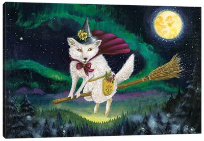 Moon Fox Magick Canvas Art Print