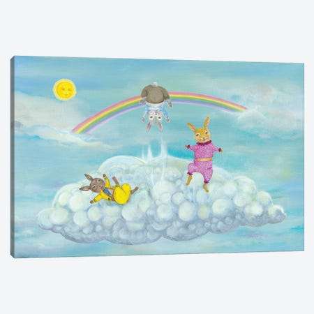 Cloud Bunnies Canvas Print #JVA51} by Jahna Vashti Canvas Art Print