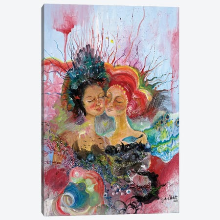 BFF Canvas Print #JVA5} by Jahna Vashti Art Print