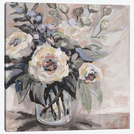 Delighted Greige Canvas Print #JVE100} by Jeanette Vertentes Canvas Art