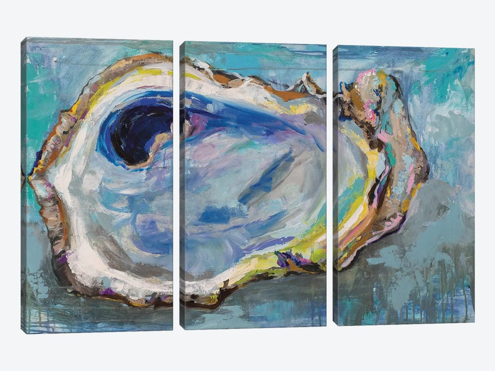 Oyster Two by Jeanette Vertentes 3-piece Canvas Art