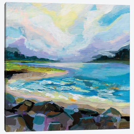 The Coastline Canvas Print #JVE107} by Jeanette Vertentes Canvas Art Print