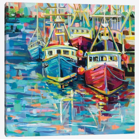 Stonington Docks Canvas Print #JVE113} by Jeanette Vertentes Canvas Art Print