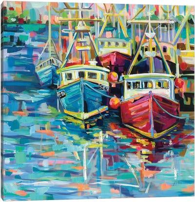 Stonington Docks Canvas Art Print