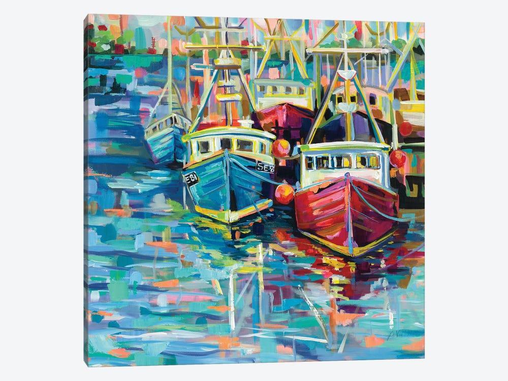 Stonington Docks by Jeanette Vertentes 1-piece Canvas Wall Art