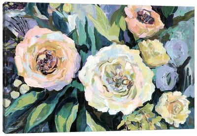 Walk in the Garden Neutral Crop Canvas Art Print
