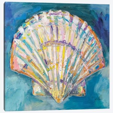 Scallop Shell Crop Canvas Print #JVE139} by Jeanette Vertentes Canvas Print