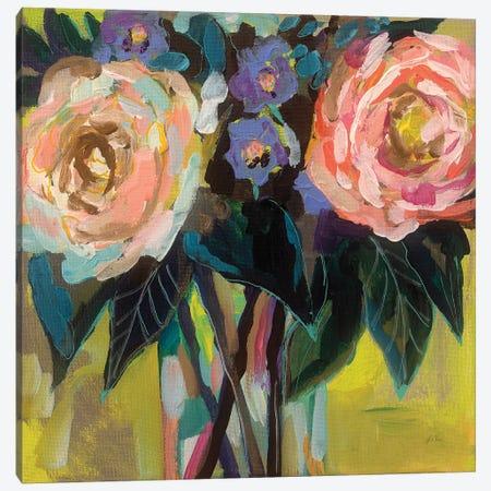 Happy Couple Canvas Print #JVE13} by Jeanette Vertentes Canvas Art Print