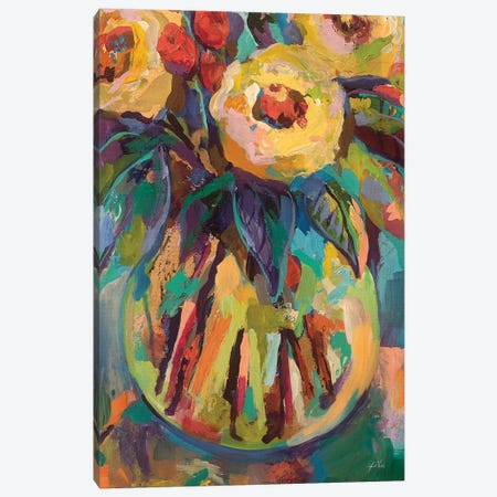 Round Vase Canvas Print #JVE15} by Jeanette Vertentes Canvas Art