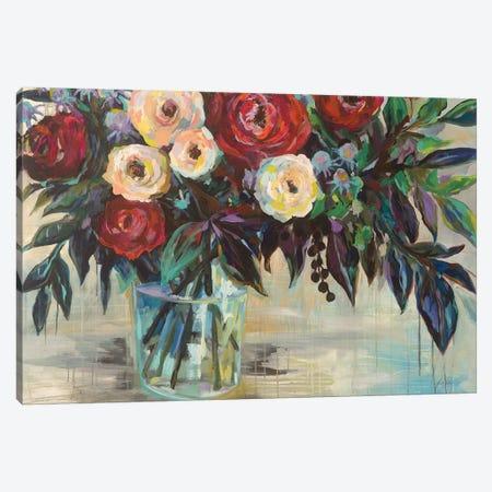 Winter Floral Crop Canvas Print #JVE18} by Jeanette Vertentes Art Print
