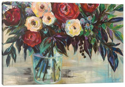Winter Floral Crop Canvas Art Print