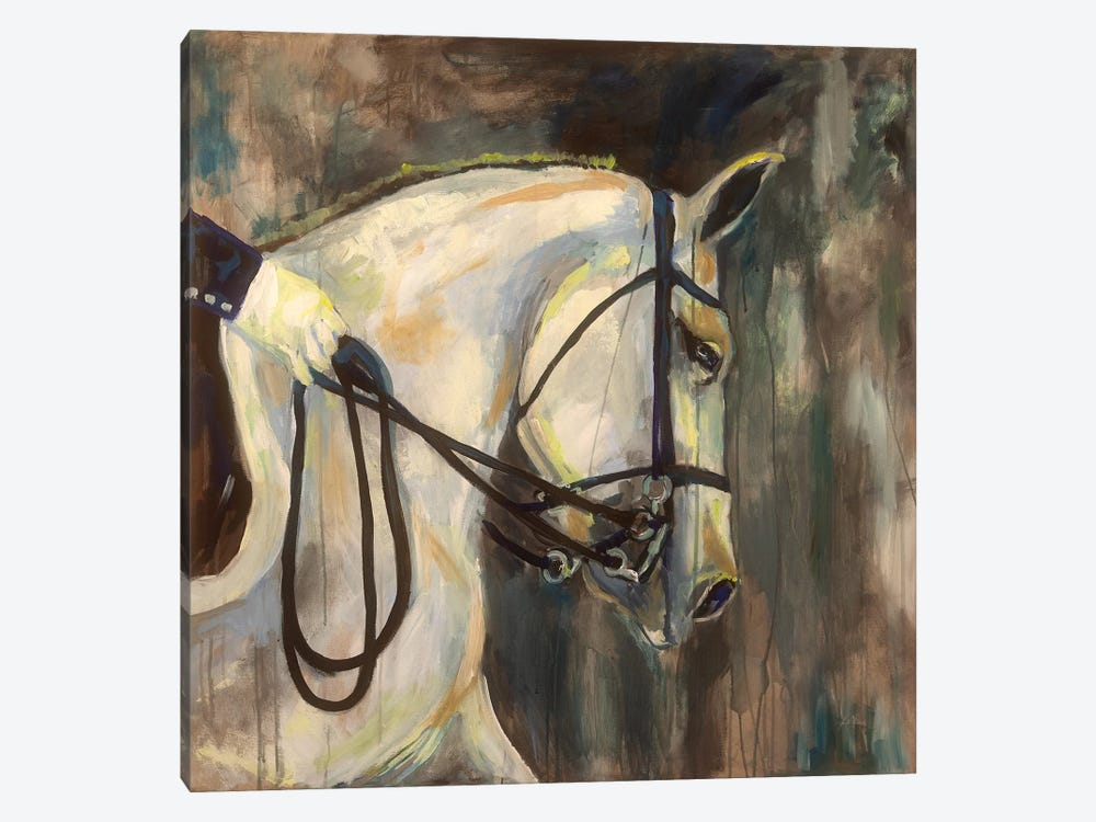 Dressage by Jeanette Vertentes 1-piece Canvas Art Print