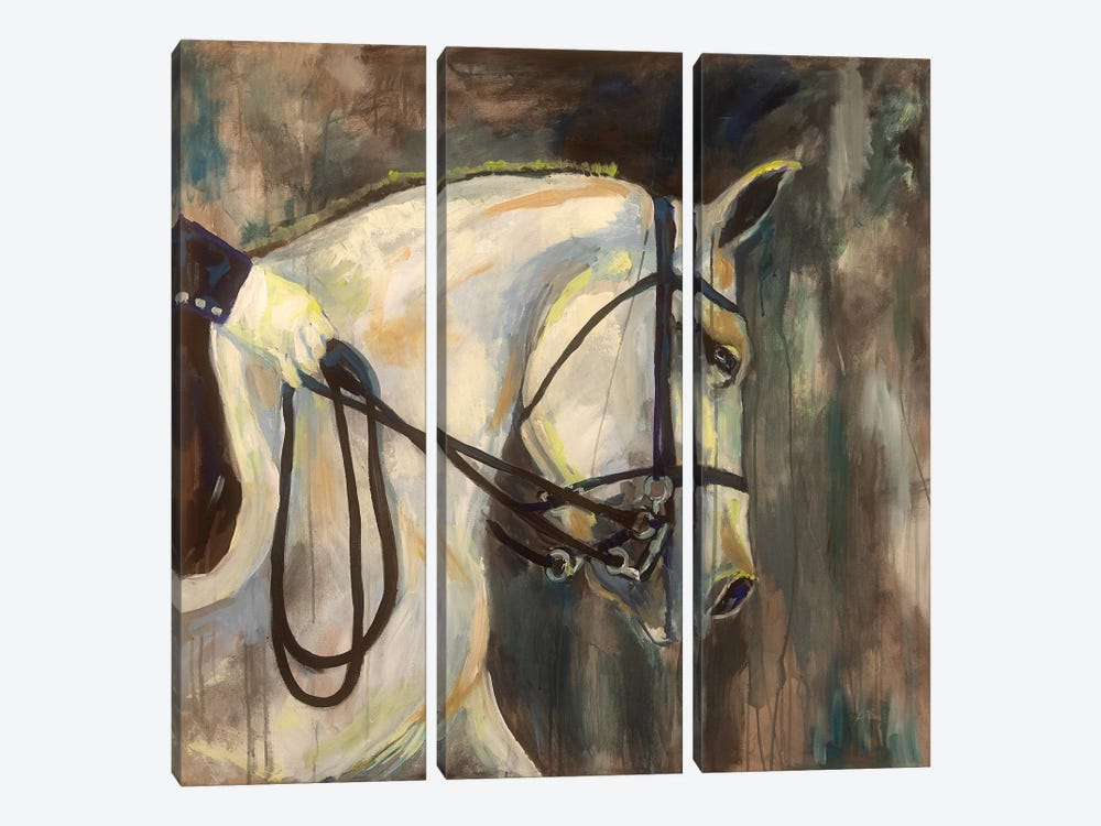 Dressage by Jeanette Vertentes 3-piece Art Print