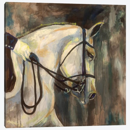 Dressage Canvas Print #JVE22} by Jeanette Vertentes Canvas Wall Art