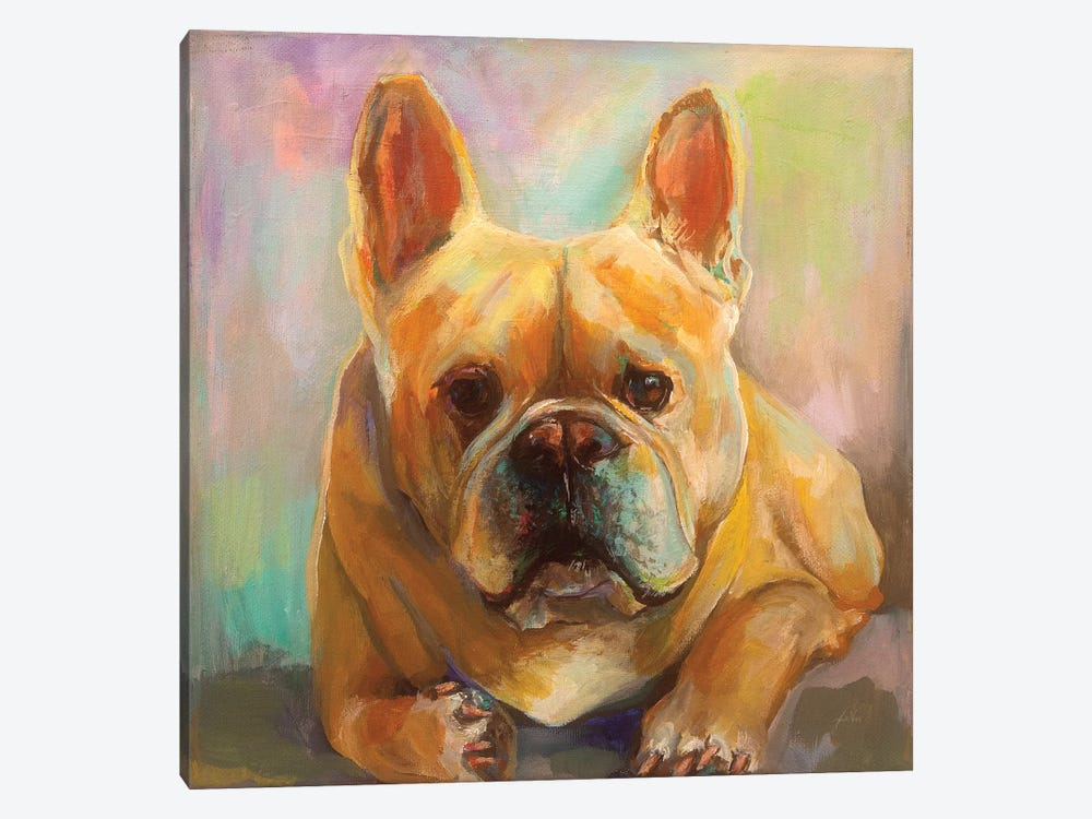 Frenchie by Jeanette Vertentes 1-piece Canvas Artwork