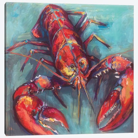 Lobster Canvas Print #JVE24} by Jeanette Vertentes Art Print