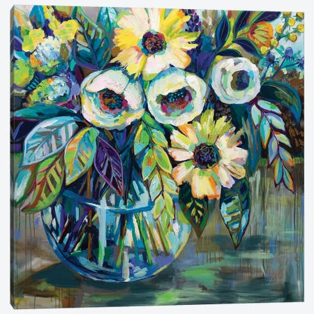 Blue Light Canvas Print #JVE41} by Jeanette Vertentes Canvas Wall Art