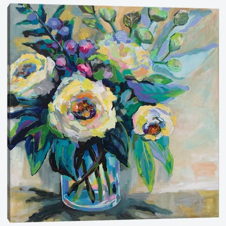 Delighted Canvas Print #JVE42} by Jeanette Vertentes Canvas Wall Art