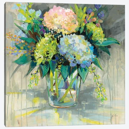 Hydrangeas from the Garden Canvas Print #JVE43} by Jeanette Vertentes Canvas Artwork