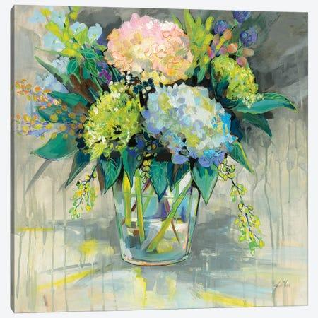 Hydrangeas from the Garden Canvas Print #JVE43} by Jeanette Vertentes Canvas Artwork