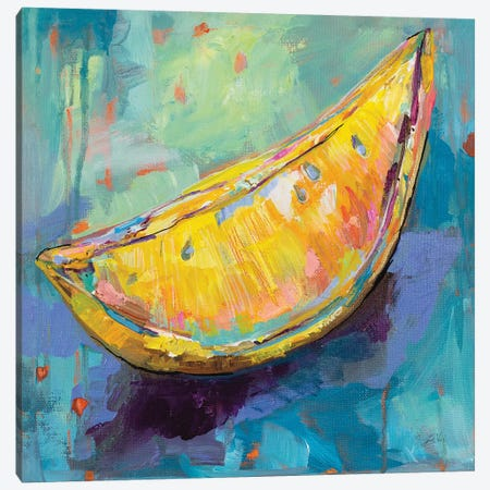 Lemon Wedge Canvas Print #JVE45} by Jeanette Vertentes Art Print