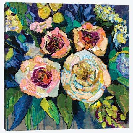 Peony Garden Canvas Print #JVE47} by Jeanette Vertentes Canvas Art Print