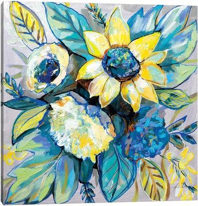 Sage and Sunflowers I Canvas Art Print