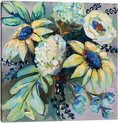 Sage and Sunflowers II Canvas Art Print