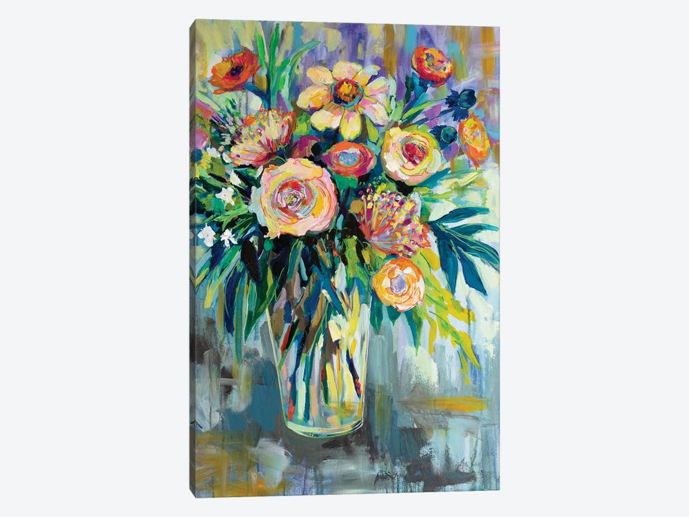 Summer Happiness by Jeanette Vertentes 1-piece Canvas Art
