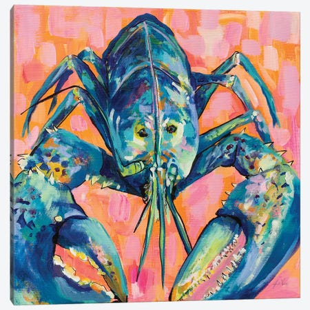 Lilly Lobster I Canvas Print #JVE72} by Jeanette Vertentes Canvas Art Print