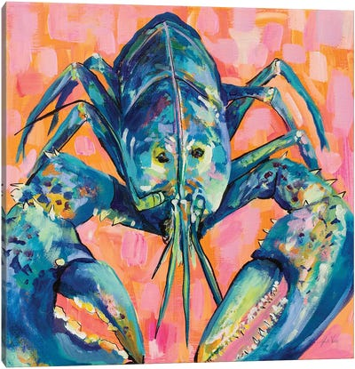 Lilly Lobster I Canvas Art Print