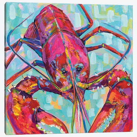 Lilly Lobster III 3-Piece Canvas #JVE73} by Jeanette Vertentes Art Print