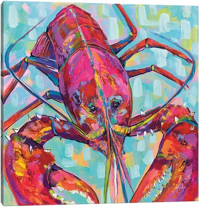 Lilly Lobster III Canvas Art Print