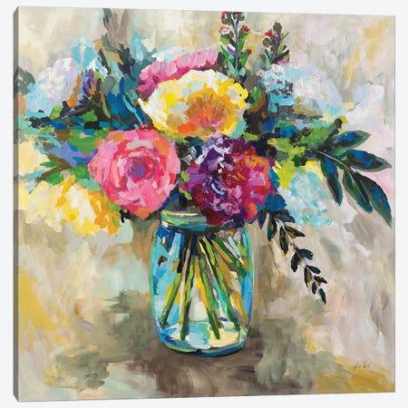 Masons Bouquet Canvas Print #JVE75} by Jeanette Vertentes Canvas Artwork