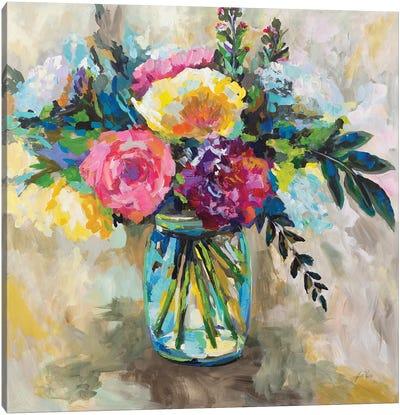 Masons Bouquet Canvas Art Print