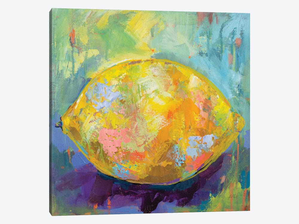 Lemon by Jeanette Vertentes 1-piece Canvas Art