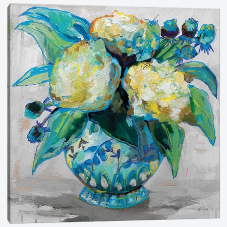Ginger Jar I Gray Canvas Print #JVE94} by Jeanette Vertentes Canvas Wall Art