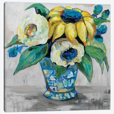 Ginger Jar II Gray Canvas Print #JVE95} by Jeanette Vertentes Canvas Wall Art