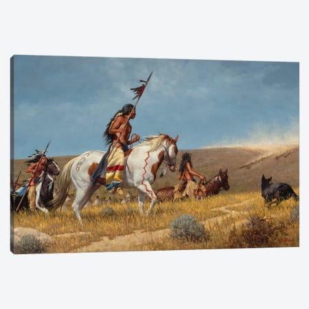 Arrival Of The Horse Traders Canvas Print #JVL11} by Joe Velazquez Canvas Wall Art