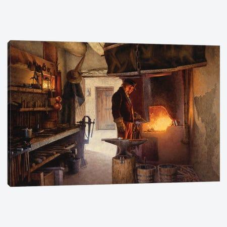 Blacksmith's Workshop Canvas Print #JVL16} by Joe Velazquez Art Print