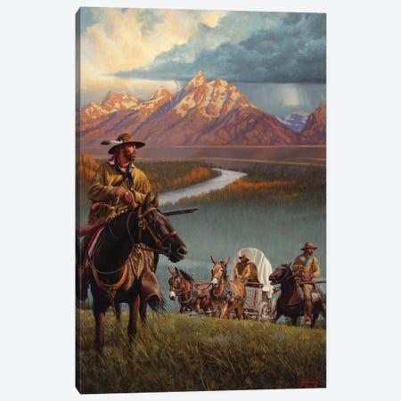 Brigade Of The Mountain Men Canvas Print #JVL19} by Joe Velazquez Canvas Wall Art