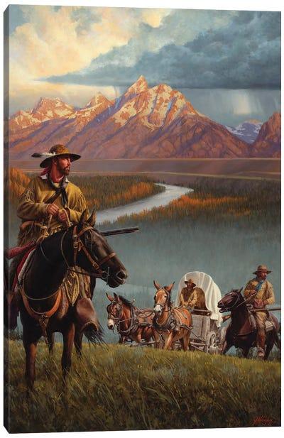 Brigade Of The Mountain Men Canvas Art Print