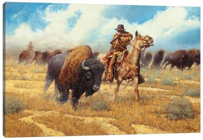 Buffalo Hunter Canvas Art Print