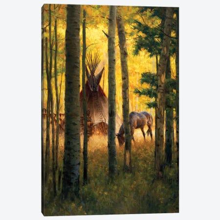 Deep Forest Camp Canvas Print #JVL26} by Joe Velazquez Canvas Art